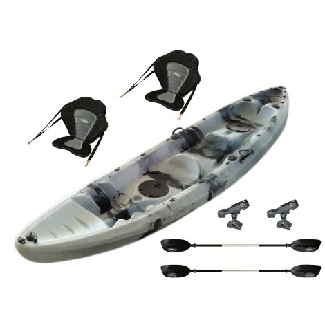 EZ365 Double Kayak-White-Black