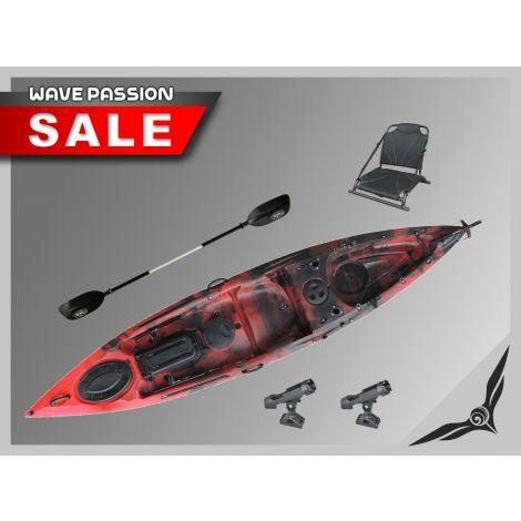 FishMaster Elite4 Kayak-Red-Black