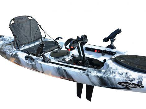 FishMaster Elite4 Pedal Kayak-White-Black