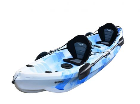 Nereus Double Fishing Kayak-Blue-White