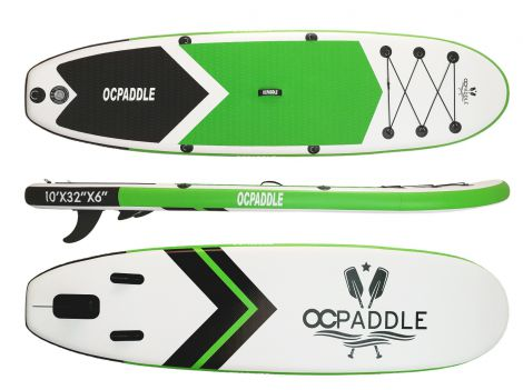 OC Paddle 10ft Green Inflatable SUP