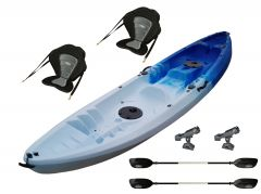 EZ365 Double Kayak-Blue-White
