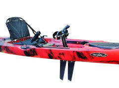 FishMaster Elite4 Pedal Kayak-Red-Black