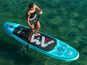Vapor inflatable SUP